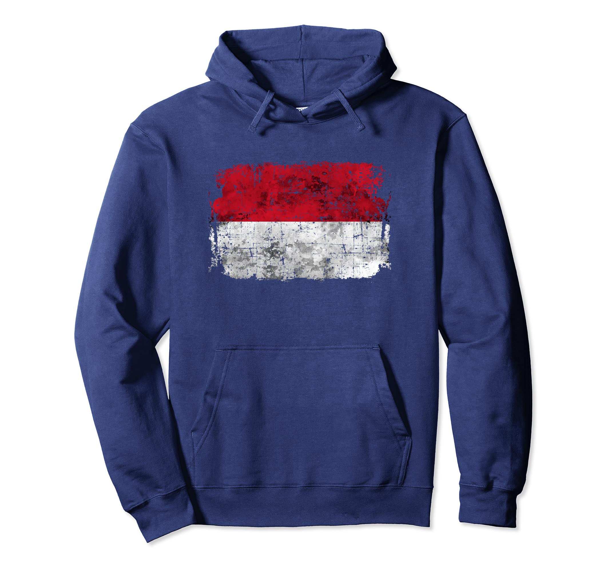 Indonesia Flag Hoodie Distressed Vintage-anz