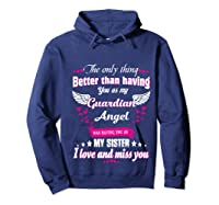 My Sister, My Hero, My Guardian Angel Gift Mother Day Pullover Shirts Hoodie Navy