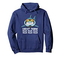 Daddy Shark Shirt Fathers Day Gift Idea For Dad Husband Beer Pullover  Hoodie Navy