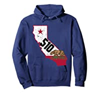 Oakland Area Code 510 California Distressed Gift Shirts Hoodie Navy