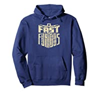 Fast Furious Cool Shield Logo Ted Shirts Hoodie Navy