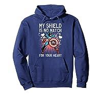 Marvel Captain America Shield Heart Valentine Shirts Hoodie Navy