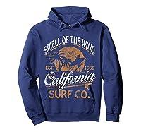 Retro Surf Shirt California Surfer Gift Cali Hoodie Navy