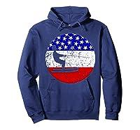 American Flag Waterskiing Vintage Retro Waterskiier Shirts Hoodie Navy
