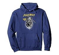Marvel Black Panther Movie Warrior King Gold Grafi Shirts Hoodie Navy