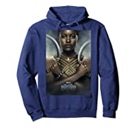 Black Panther Avengers Nakia Poster Graphic Shirts Hoodie Navy