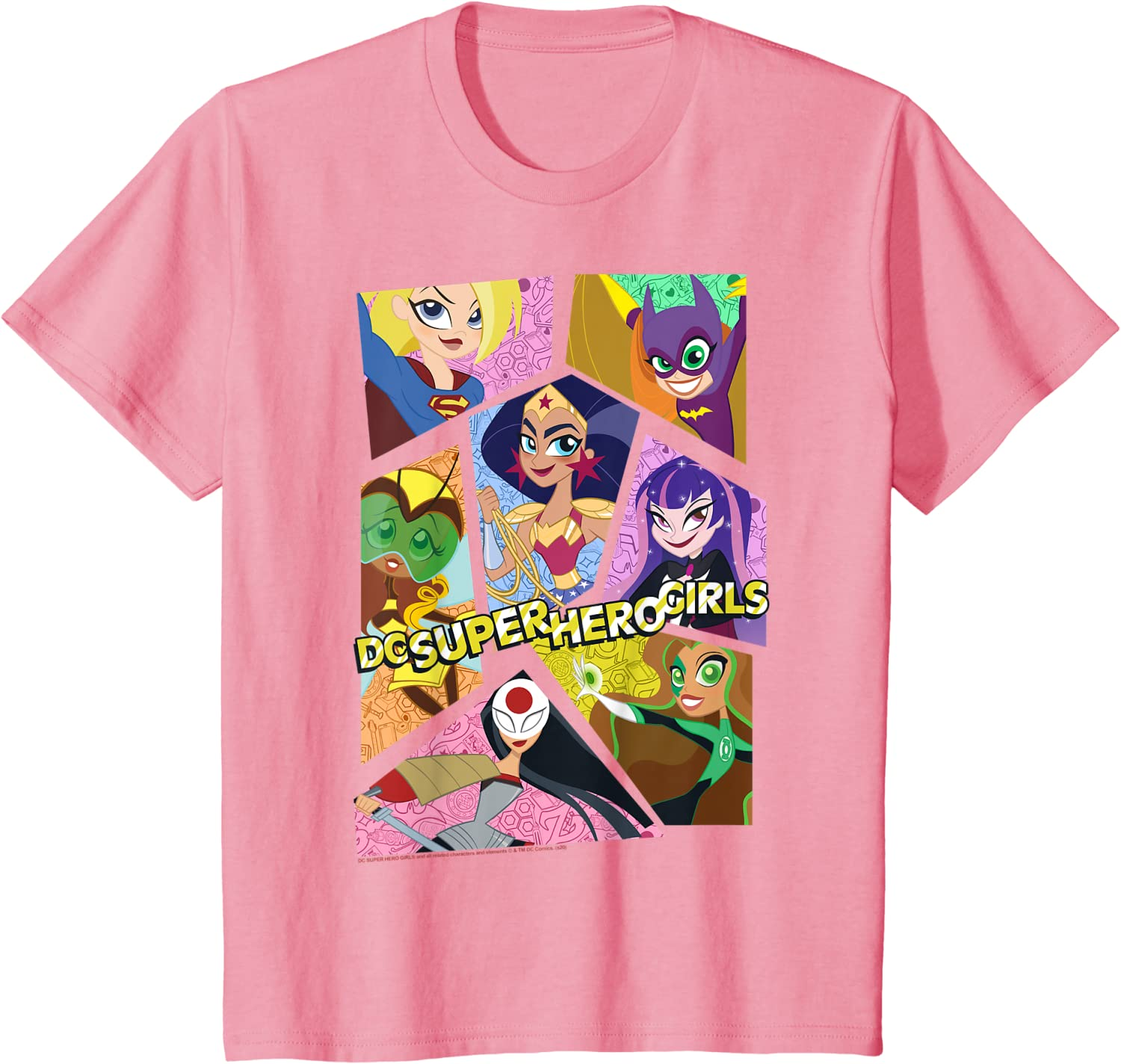 Kids DC Comics Super Hero Girls Group Collage T-Shirt : Clothing, Shoes & Jewelry