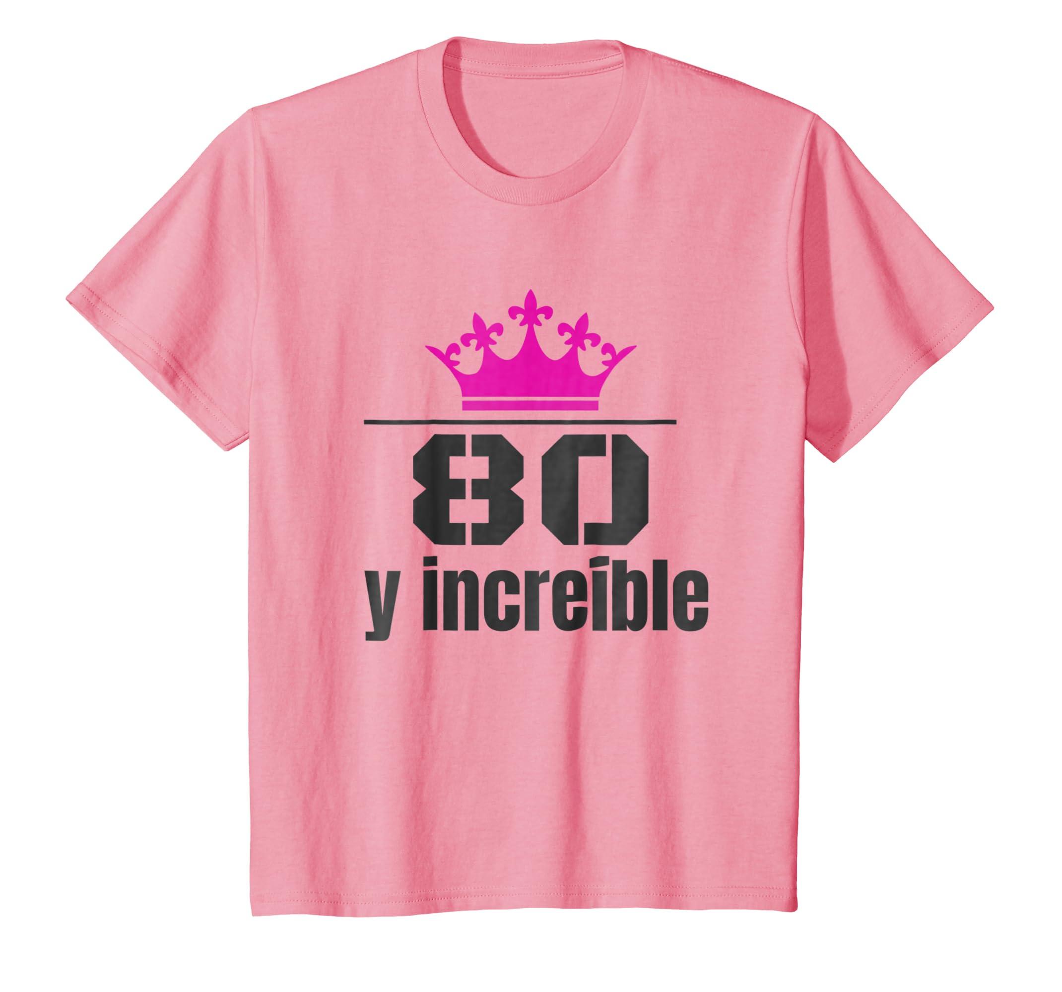 Amazon.com: Camisa de Cumpleanos 80 Anos Spanish Birthday ...