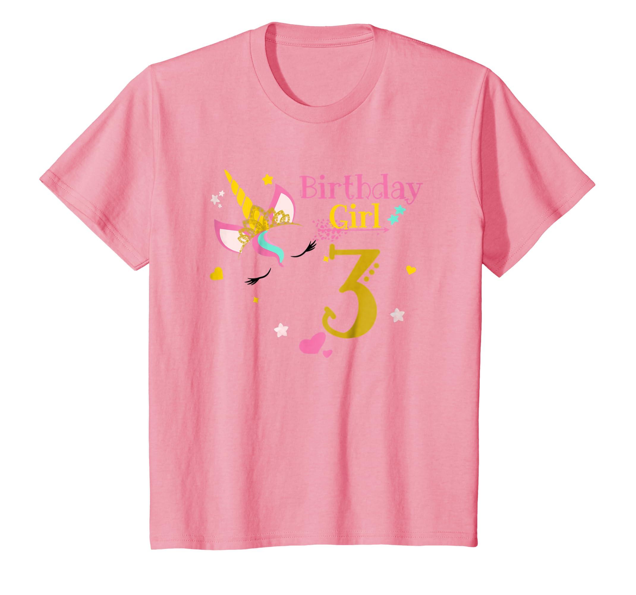 Amazon Kids Unicorn 3rd Birthday Shirt Girl T 3 Yrs Clothing