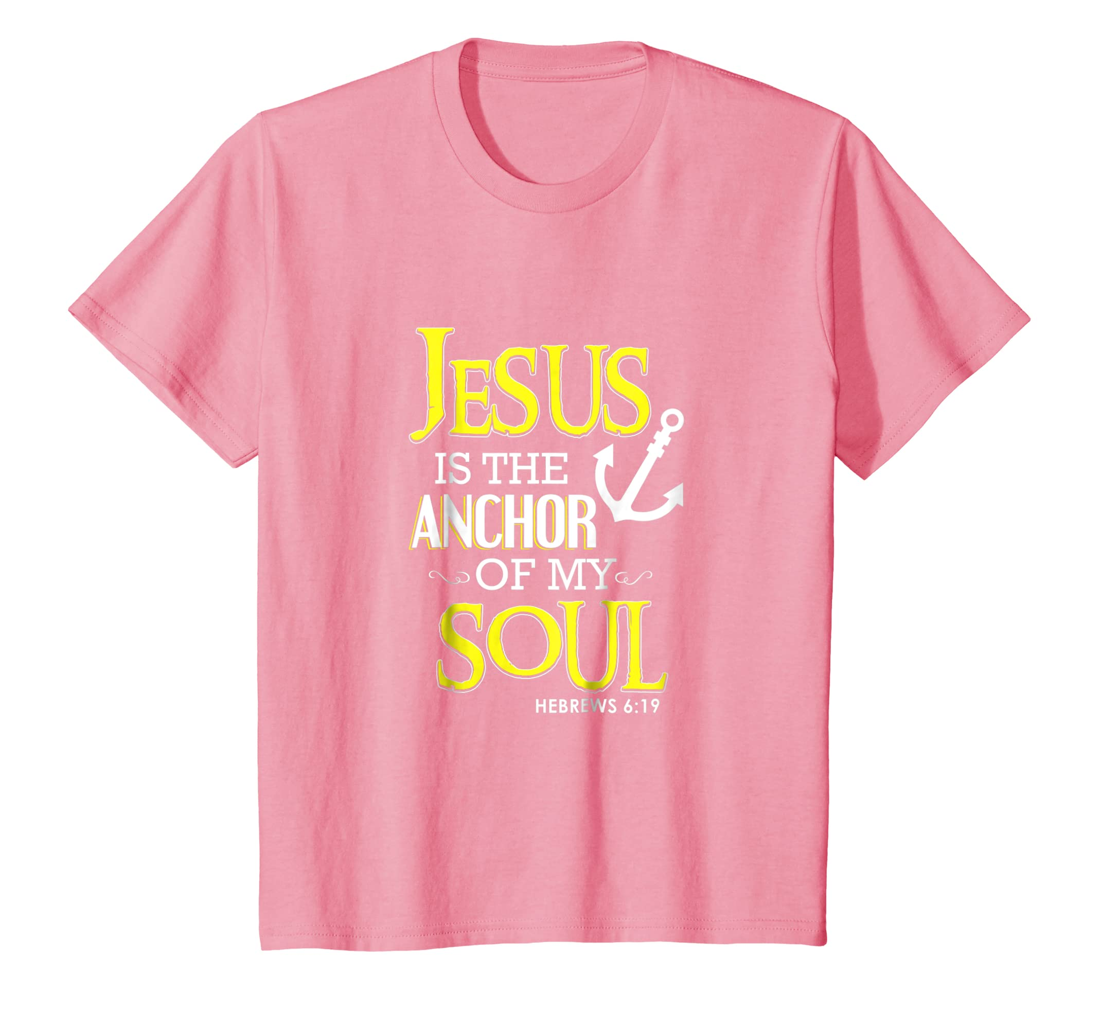 Amazon.com: Jesus Is The Anchor Of My Soul Christian T-Shirt Bible ...