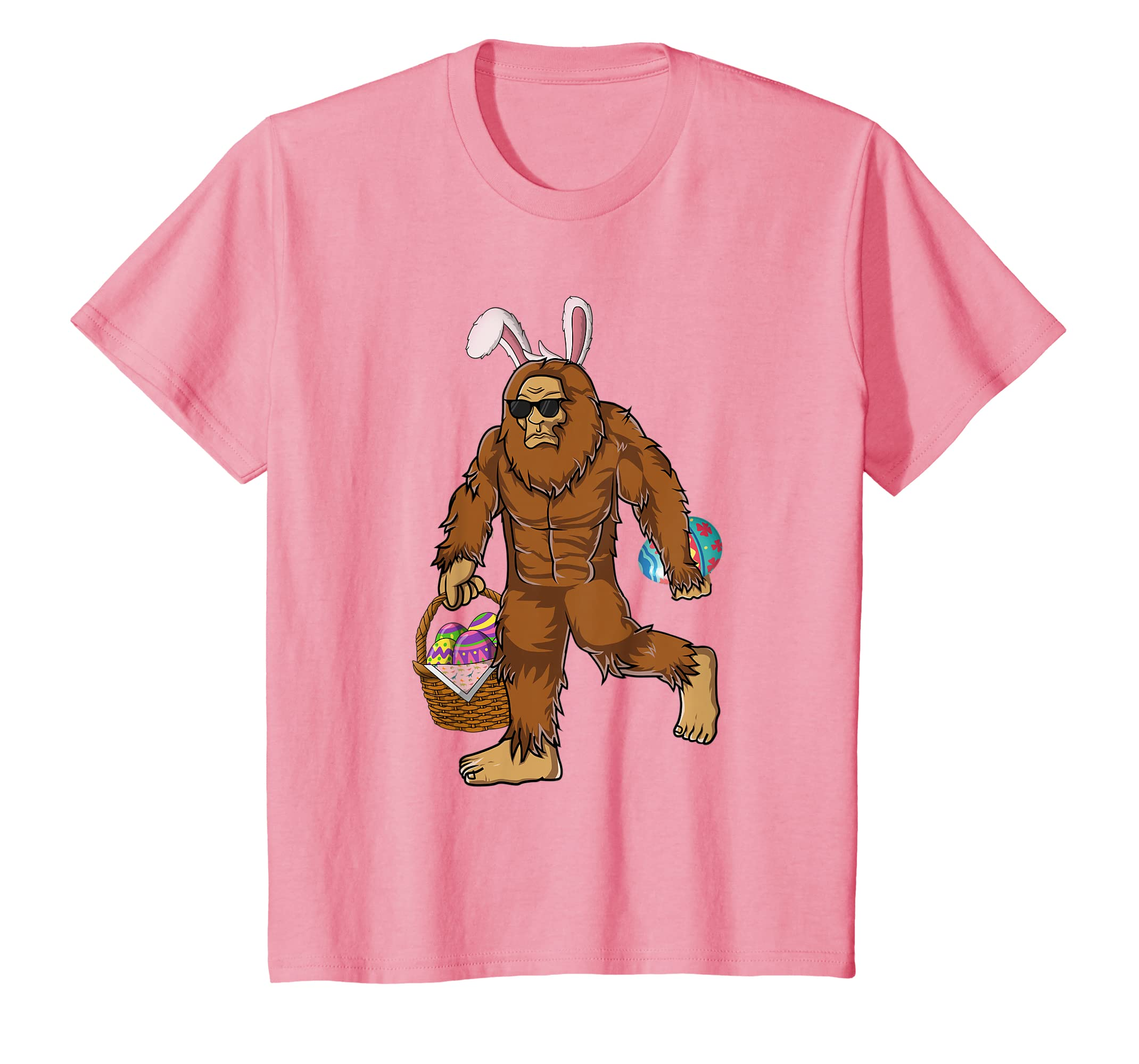 Amazon.com: Funny Bigfoot Hunting Easter Eggs T-shirt Men ...