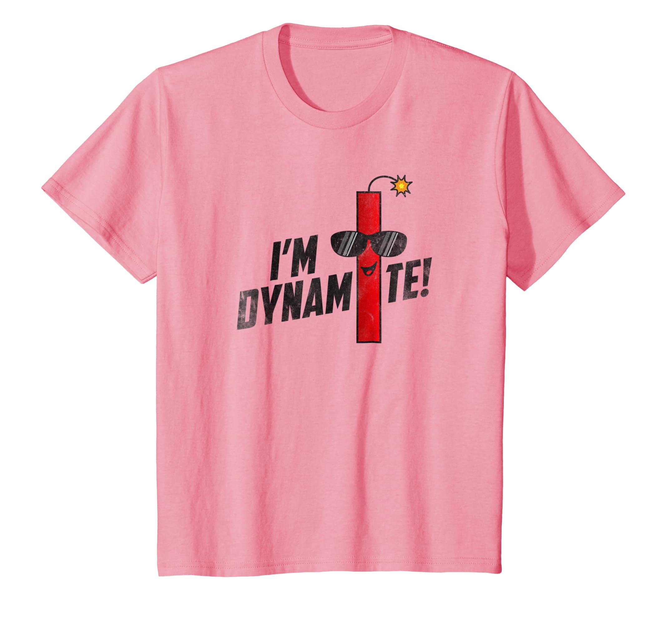 7c948aaca8e406 Amazon.com  Kids Funny I m Dynamite Shirt Cool Sunglasses TNT Tee  Clothing