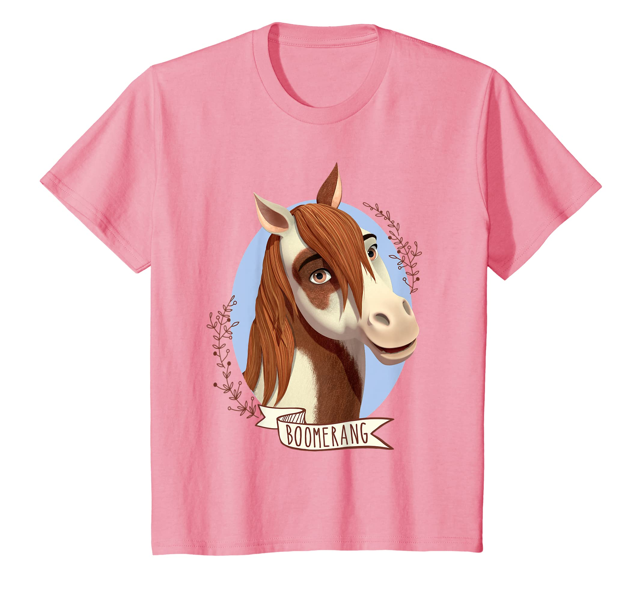 7b4a5e97d Amazon.com: Kids DreamWorks Spirit Riding Free - Boomerang T-Shirt: Clothing