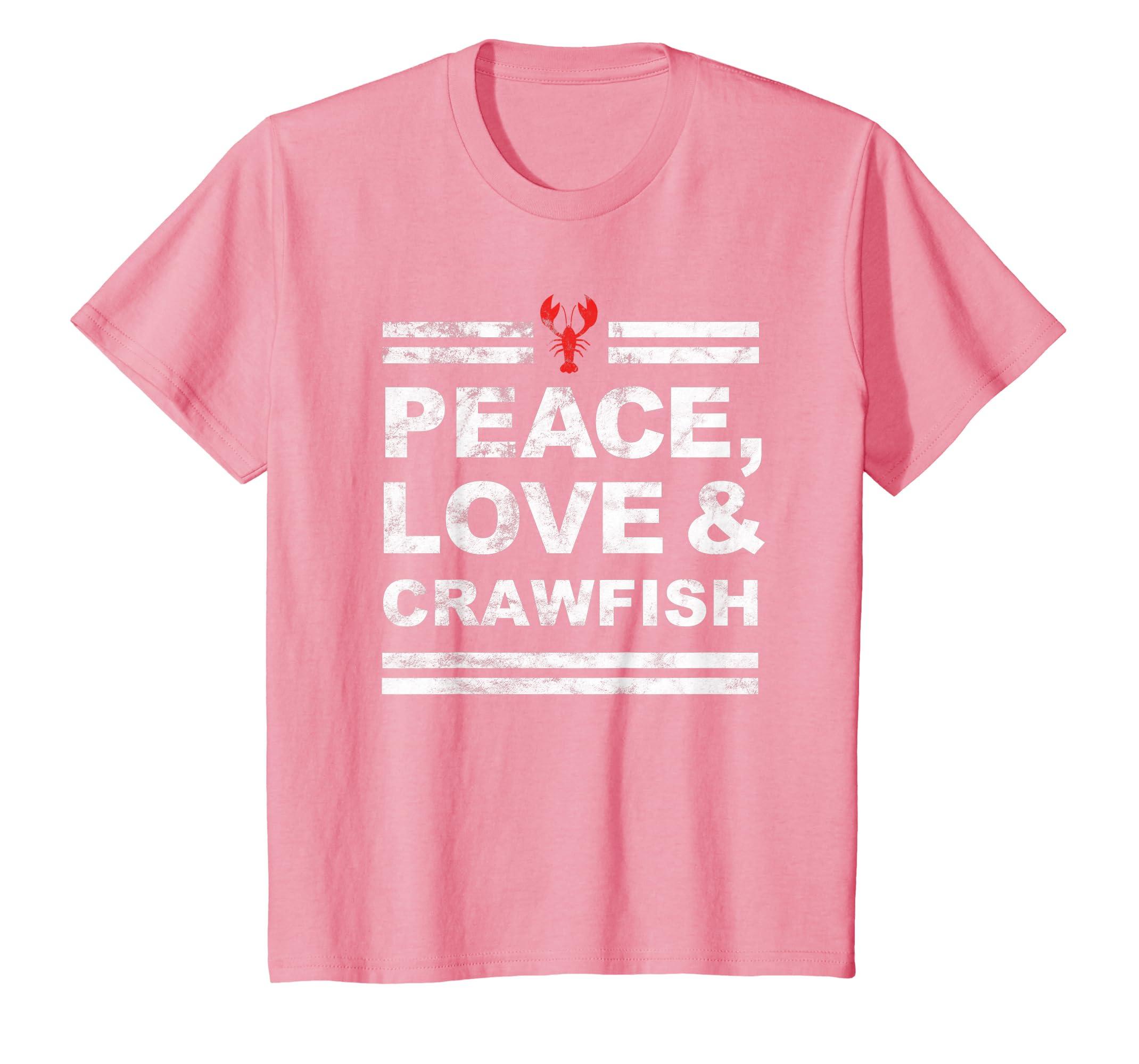 b4e9b775c Amazon.com: Love Crawfish Cajun Mardi Gras Food Fest Gift Shirt: Clothing