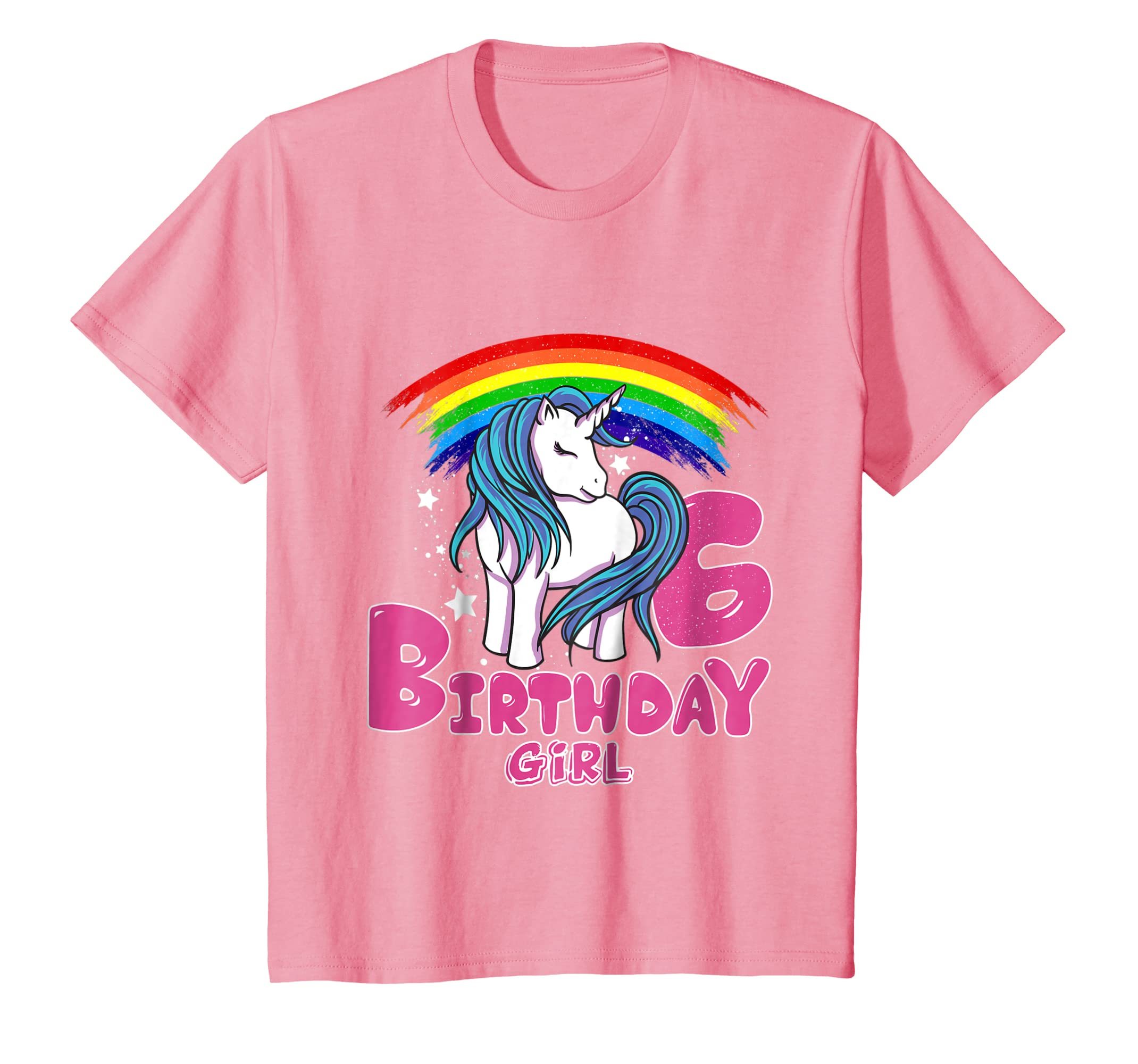 Amazon Kids Unicorn Birthday 6th Girl Party Gift Kid T Shirt Clothing