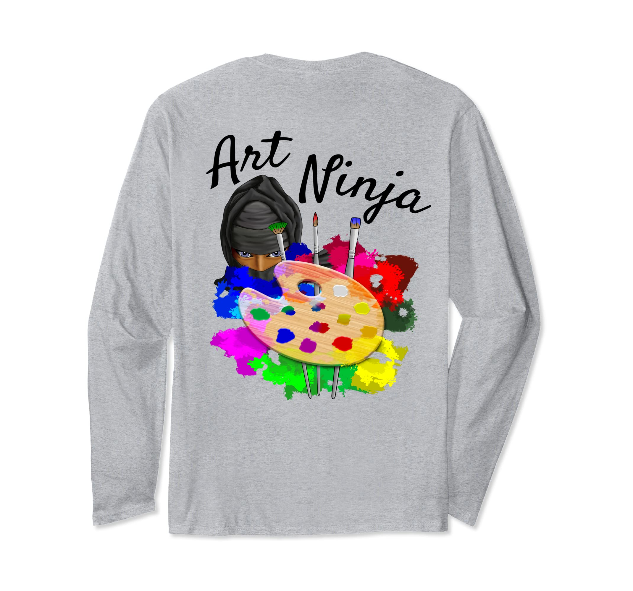 Amazon.com: Art Ninja Artist Long Sleeve T-Shirt: Clothing