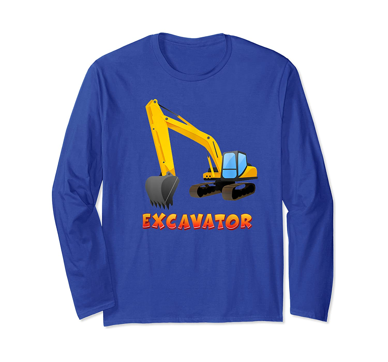 ' Excavator Digger T-shirt For S Long Sleeve T-shirt