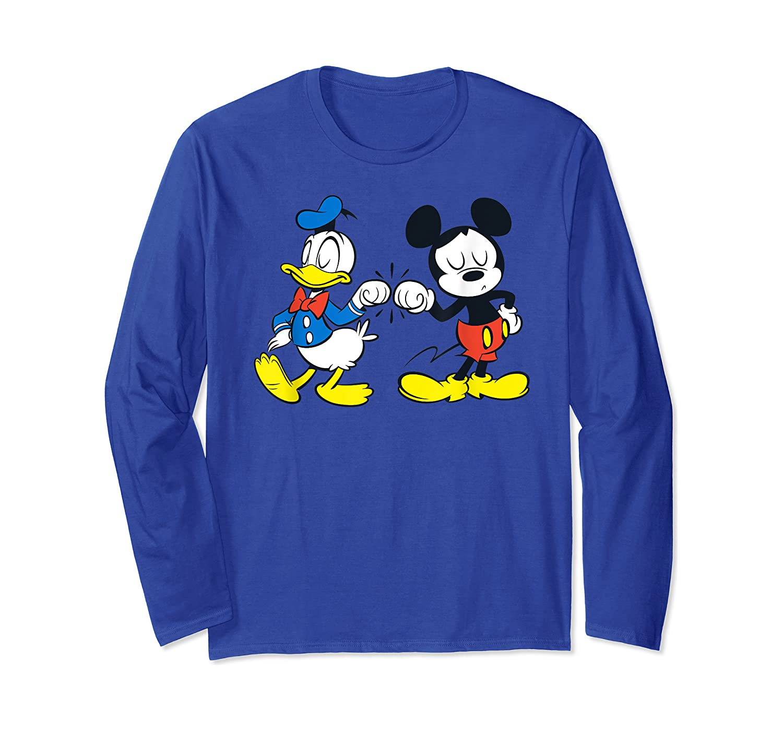 Disney Mickey Mouse And Donald Duck Best Friends T-shirt Long Sleeve T-shirt