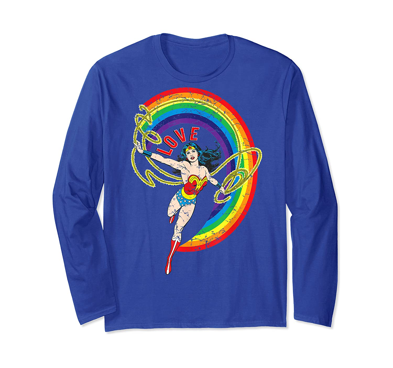Wonder Woman Rainbow Love Shirts Long Sleeve T-shirt