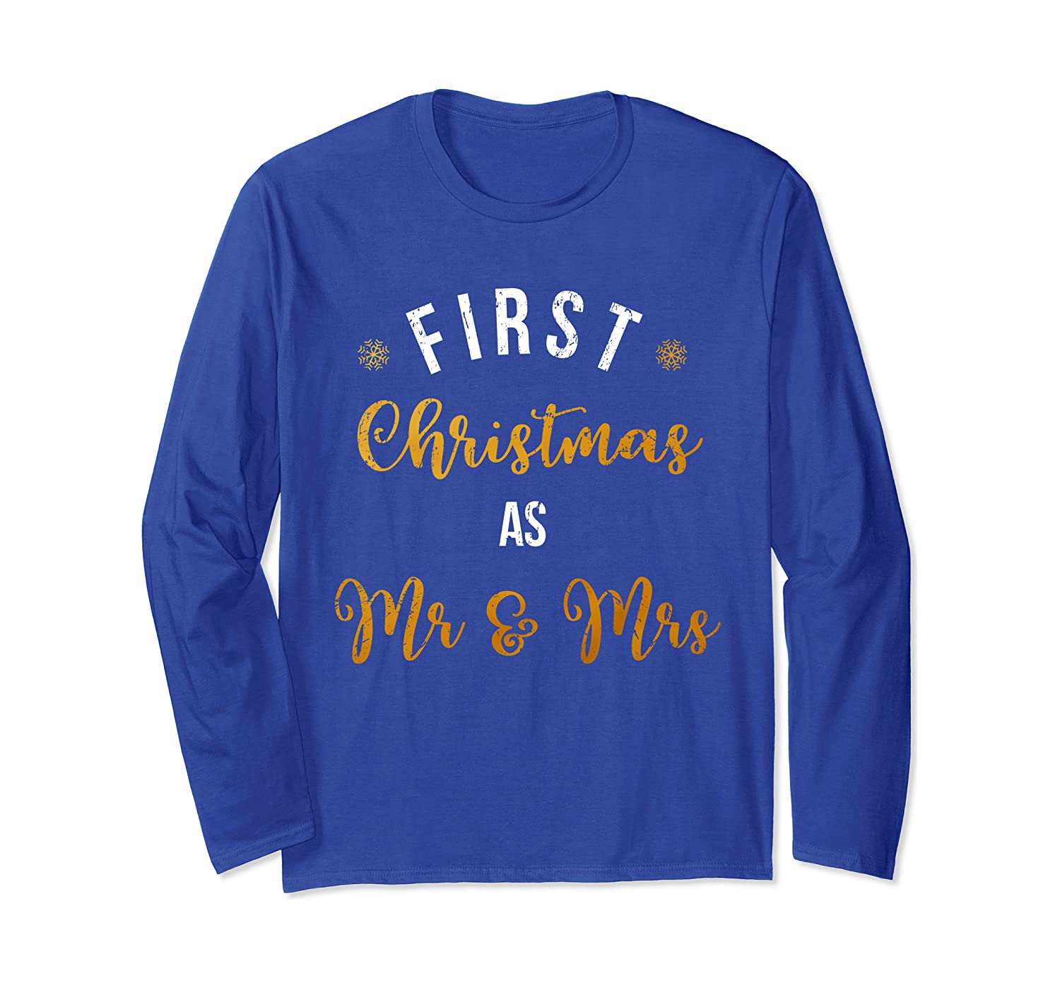 First Christmas Mr & Mrs Vintage Couple Holiday Gift Long Sleeve T-Shirt