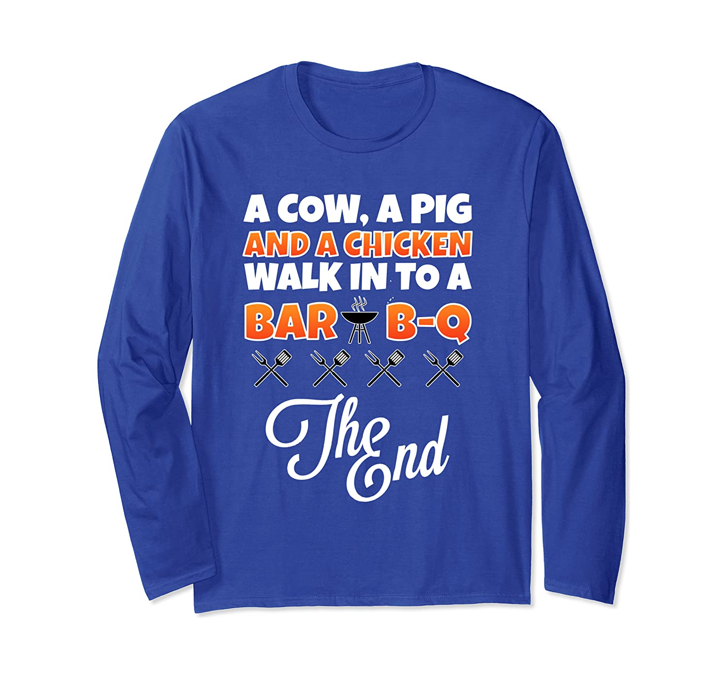 Barbecue BBQ Meat Lover Joke Humor Tee Gift For Chef & Cook Long Sleeve T-Shirt-Cotoa