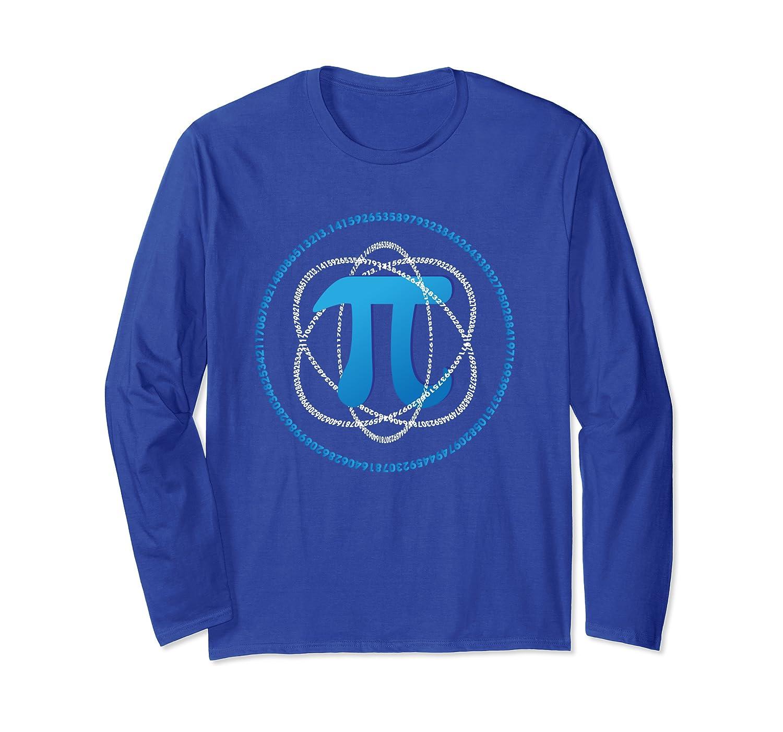 Aneisha PI Day Atom PI Math Science Gift Men Women Kids Long Sleeve T-Shirt