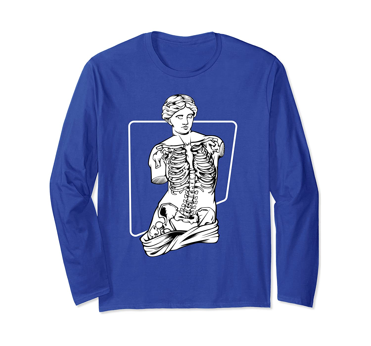 Amazon Com Venus Skeleton Shirt Aesthetic Vaporwave Soft Grunge Tee Long Sleeve T Shirt Clothing