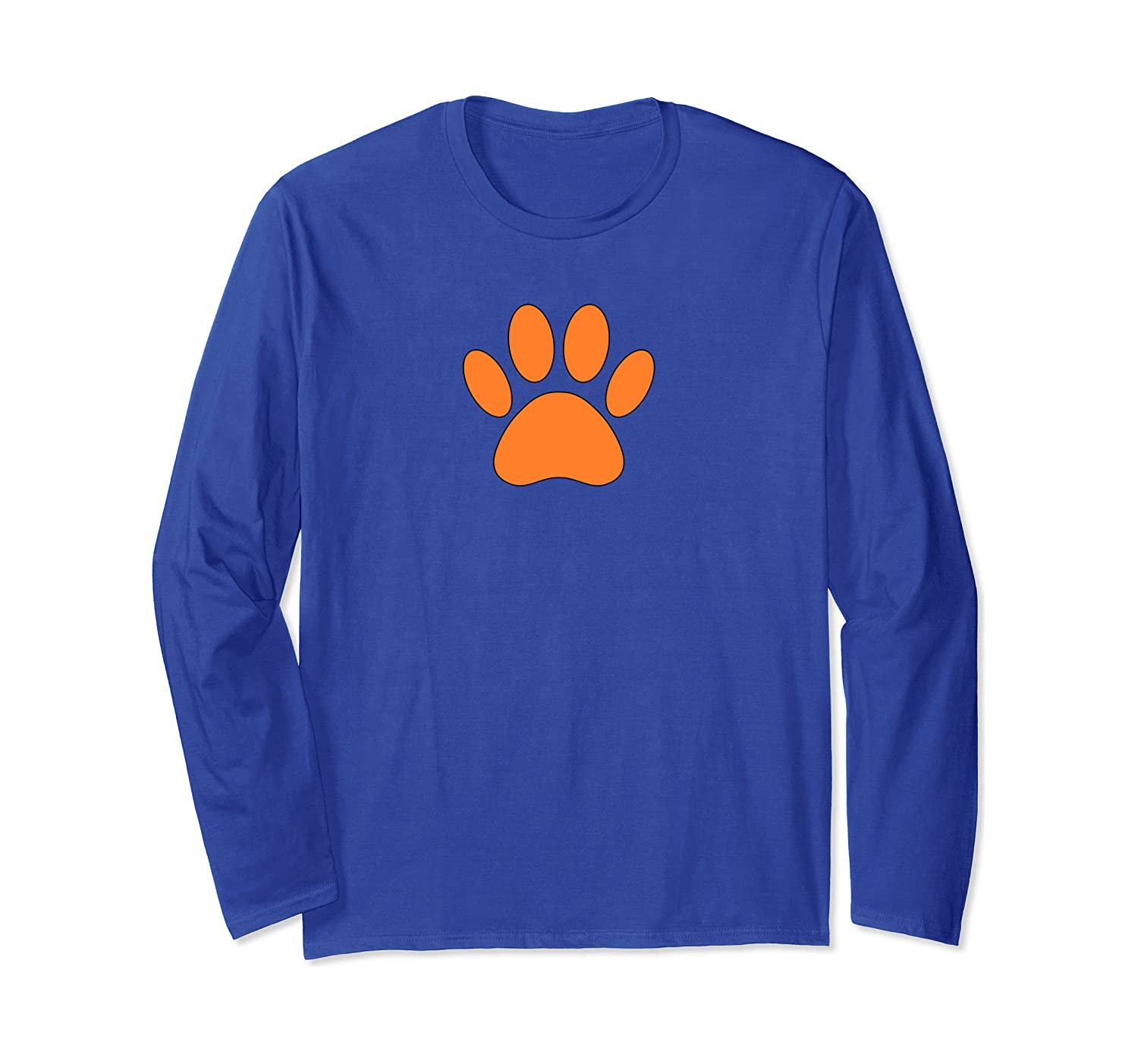 Orange Dog Paw Print Long Sleeve T Shirt Amazon Co Uk Clothing Here you can explore hq paw print transparent illustrations, icons and clipart with filter setting like size, type, color etc. amazon co uk