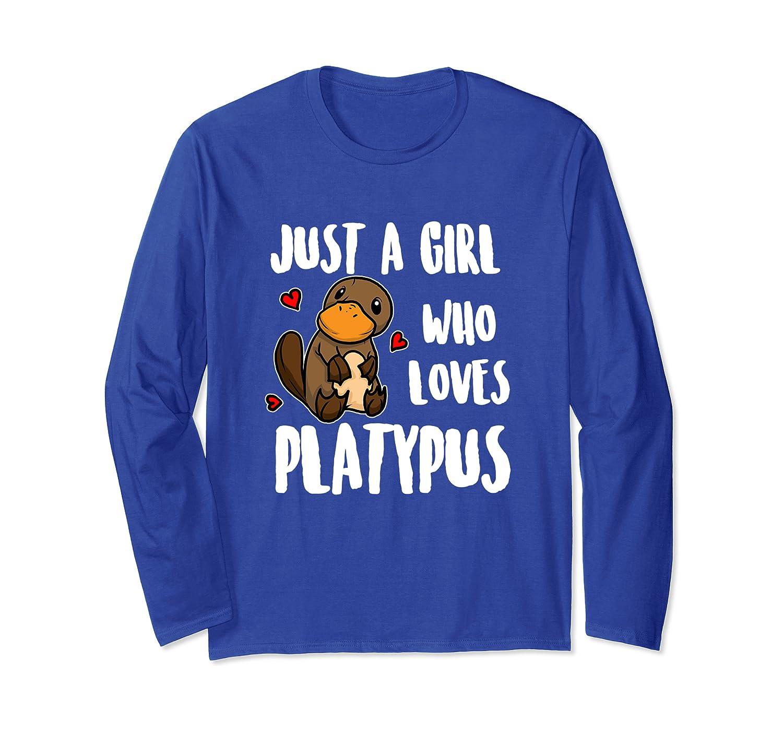 Just A Girl Who Loves Platypus Lustiges Schnabeltier Langarmshirt