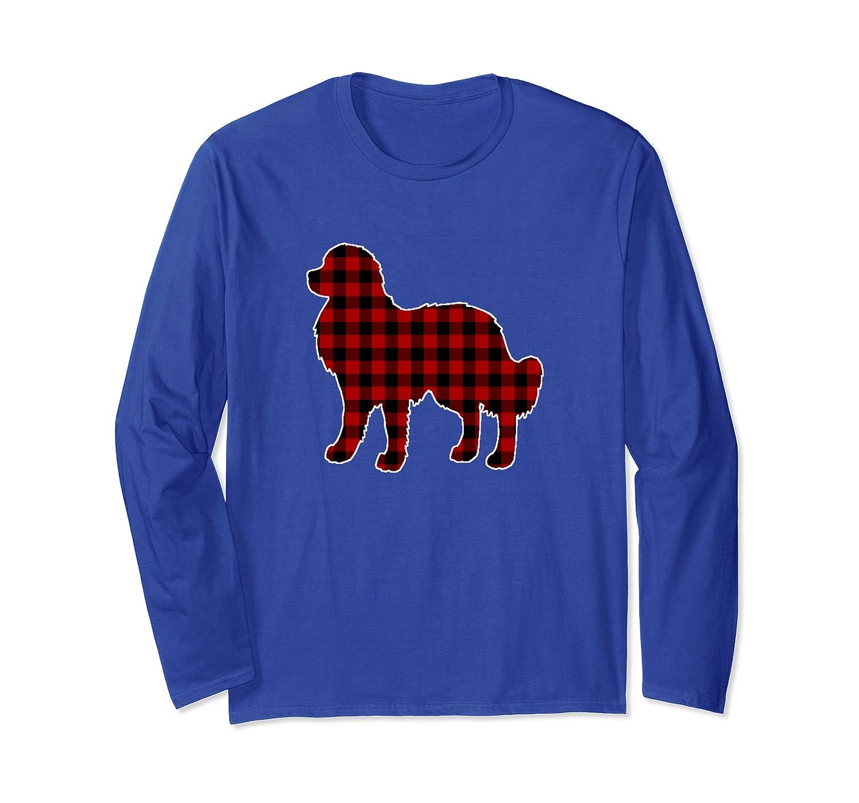 Great Pyrenees Christmas Shirt Dog Buffalo Plaid Long Sleeve T-Shirt