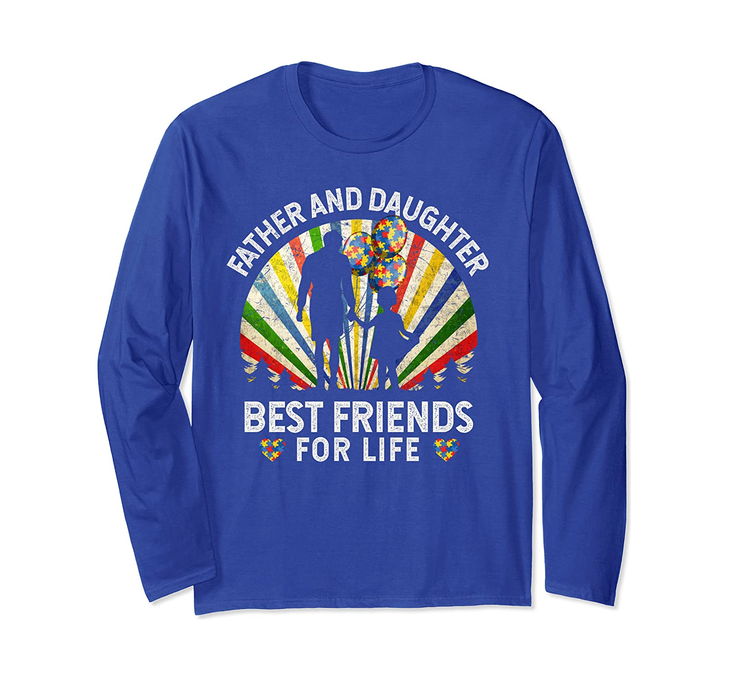 Father And Daughter Best Friends For Life Autism Awareness Long Sleeve T-shirt Unisex