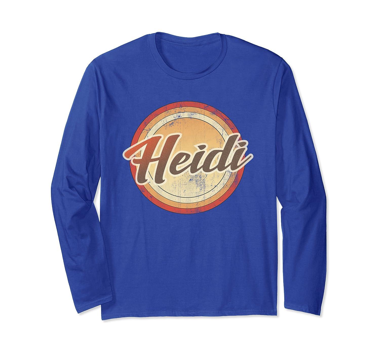 Graphic 365 Name Heidi Vintage Funny Personalized Gift Langarmshirt