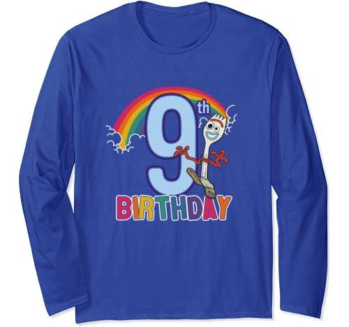 Disney Pixar Toy Story 4 Forky 9th Rainbow Birthday Long Sleeve T Shirt