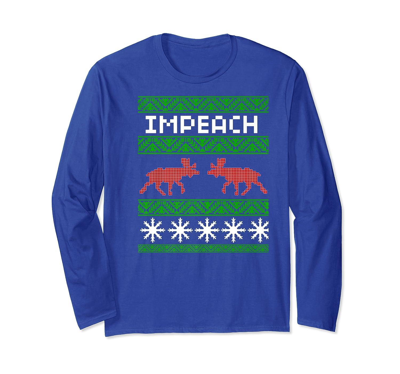 Impeach Christmas T Shirt Anti Trump Tee Long Sleeve T-shirt