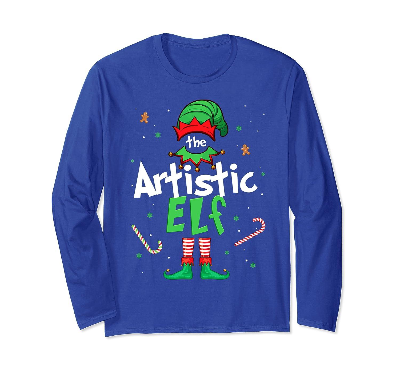 I'm The Artistic Elf Christmas Gift Idea Xmas Family Long Sleeve T-Shirt-Awarplus