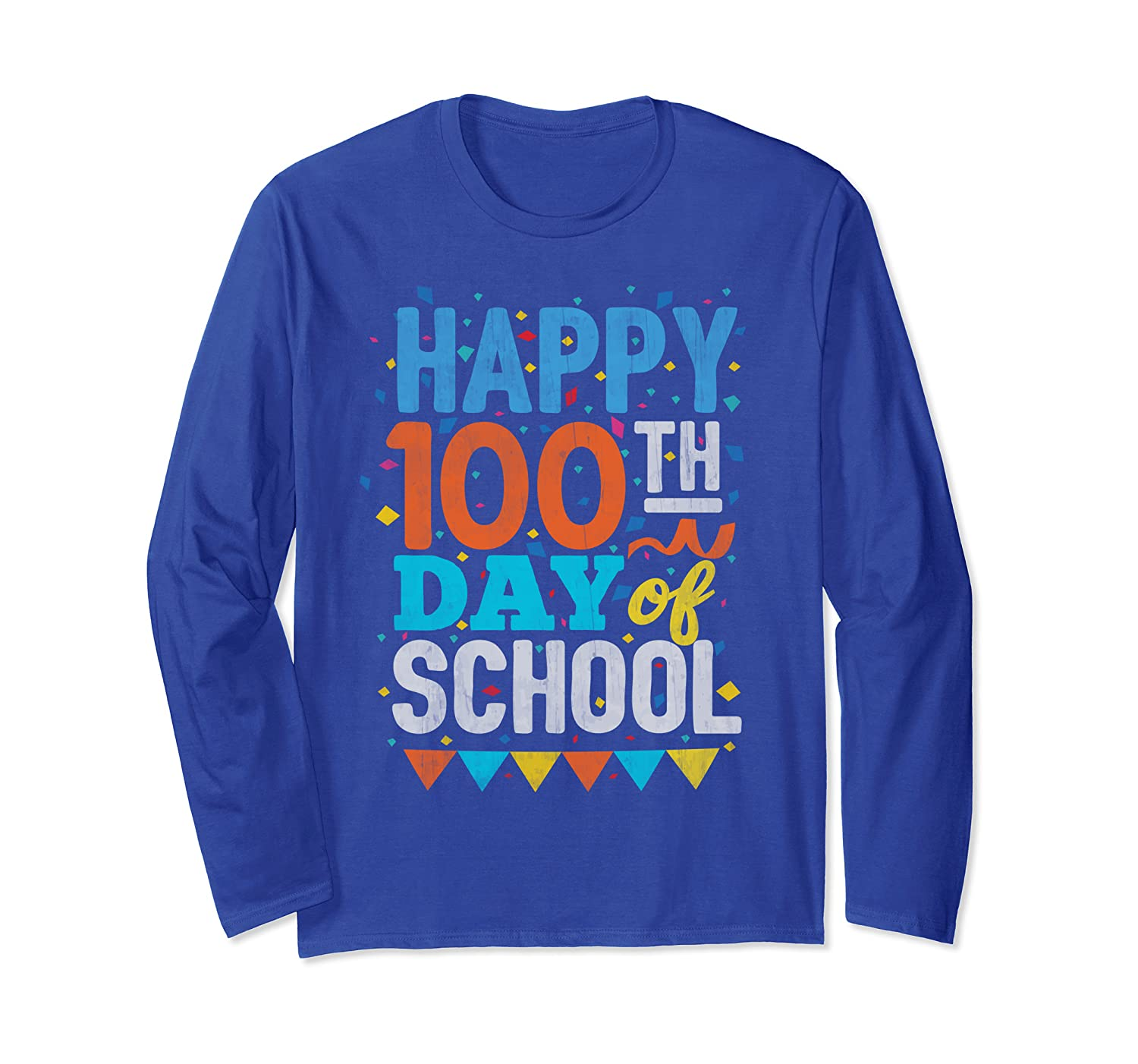 100 Days Of School Gift 100th day Teachers Kids Party Long Sleeve T-Shirt