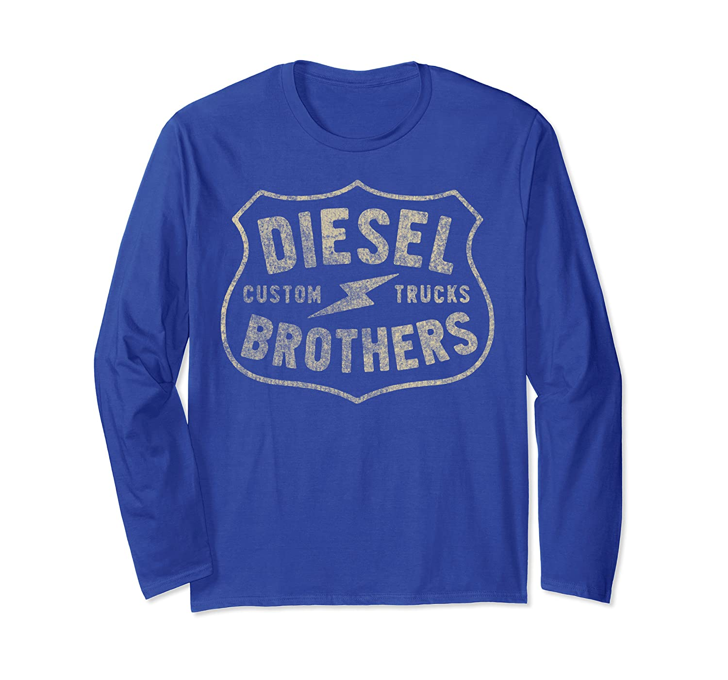 Diesel Brothers Custom Trucks Vintage Sign Long Sleeve Tee-TH