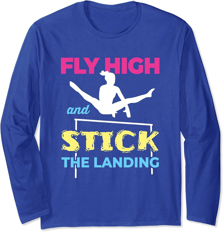Girls Gymnastics Team Coach Women Gymnast Tumbling Practice Long Sleeve T-Shirt-ANZ