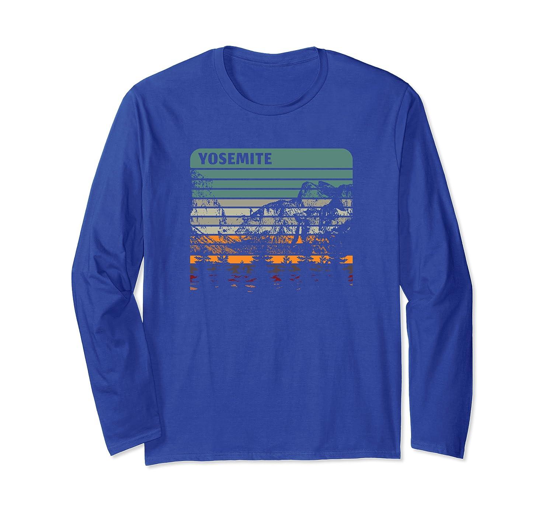 Vintage retro style camping Yosemite souvenir Long Sleeve T-Shirt