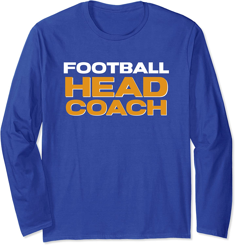 American Football Head Coach Long Sleeve T-Shirt-TH