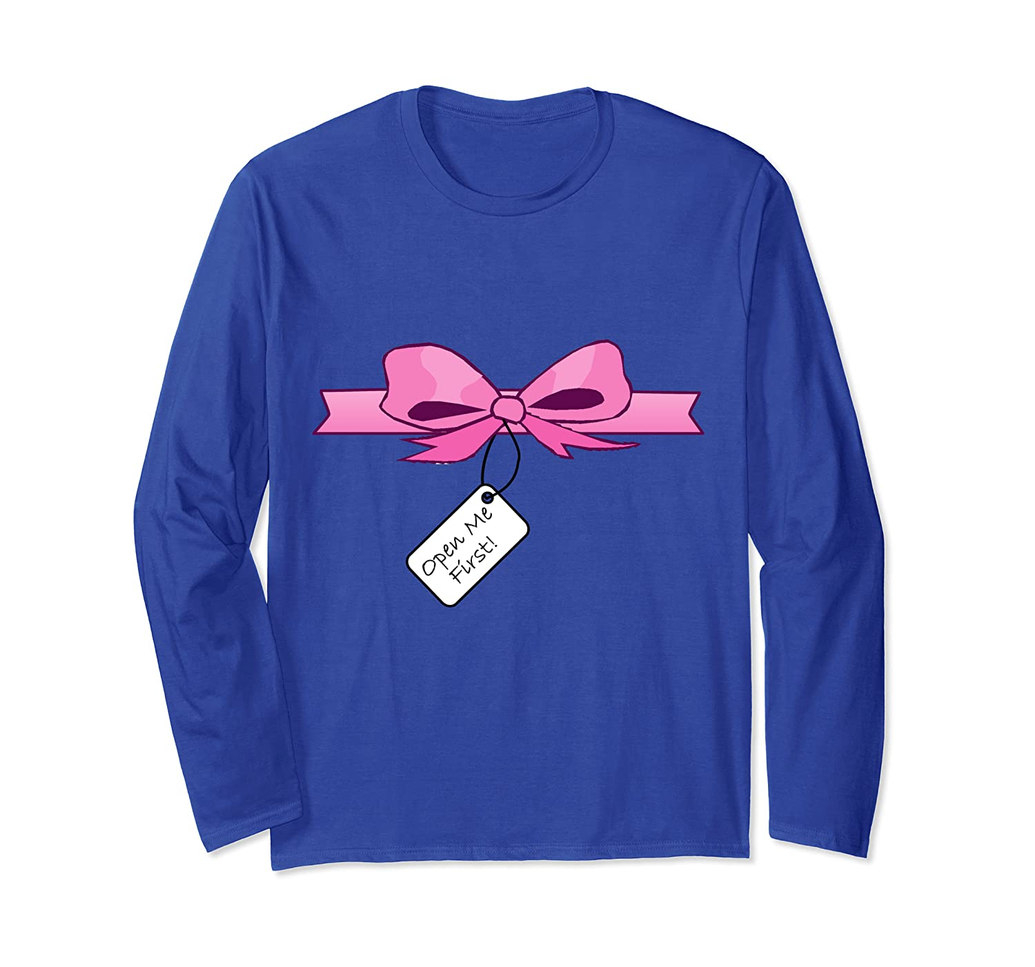 Open Me First Sexy Christmas Gift Long Sleeve T-Shirt