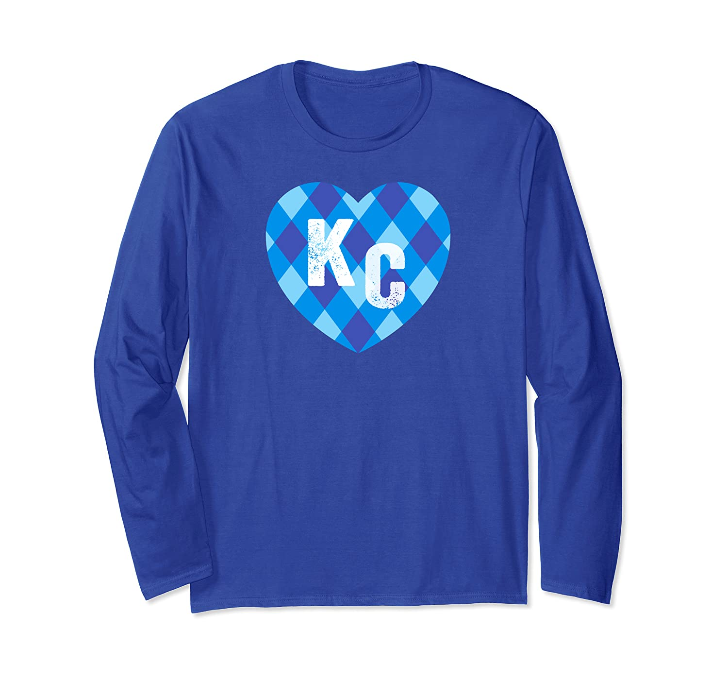 Heart Kansas City Royal Blue And Baby Blue Kc Hearts Shirts