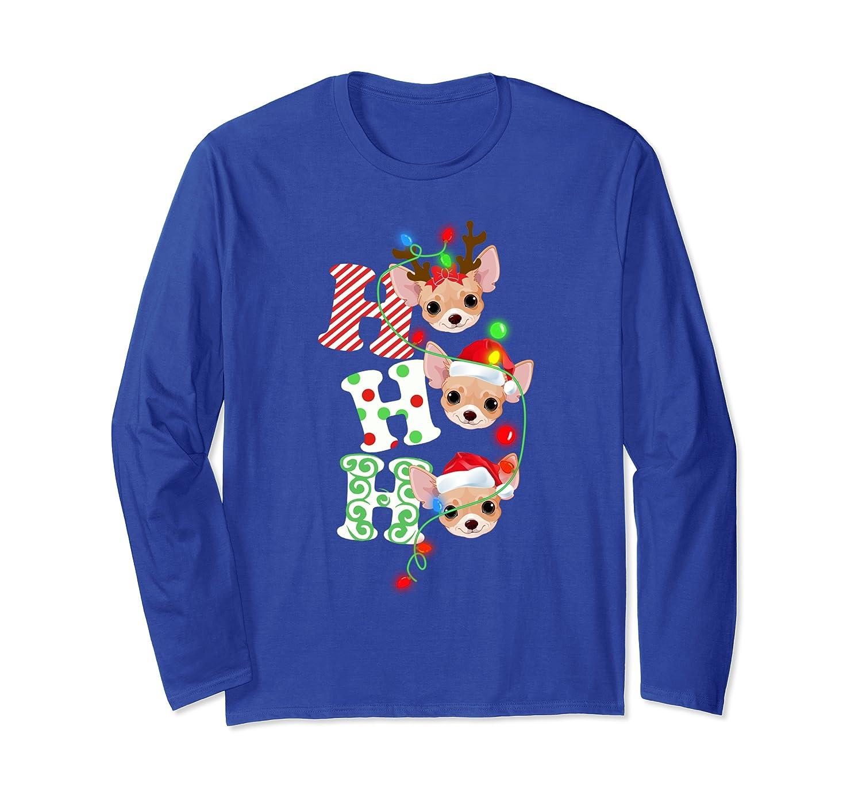 Chihuahua Hohoho Christmas Funny Costume Loverly Xmas Gift Long Sleeve T-Shirt