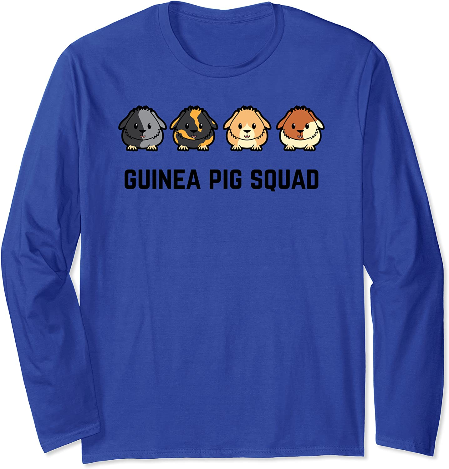 Cute Cavy Guinea Pig Rodent Team Squad Long Sleeve T-Shirt-TH