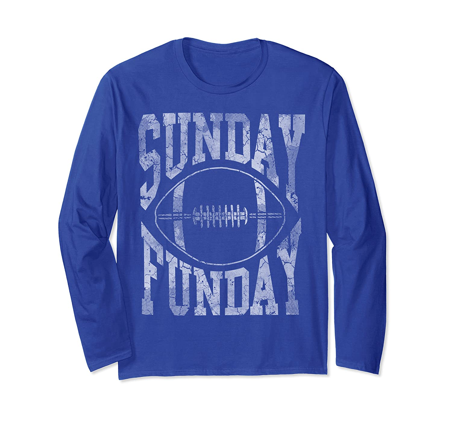 Vintage Sunday Funday Football Mens Womens Kids Long Sleeve T-Shirt-TH