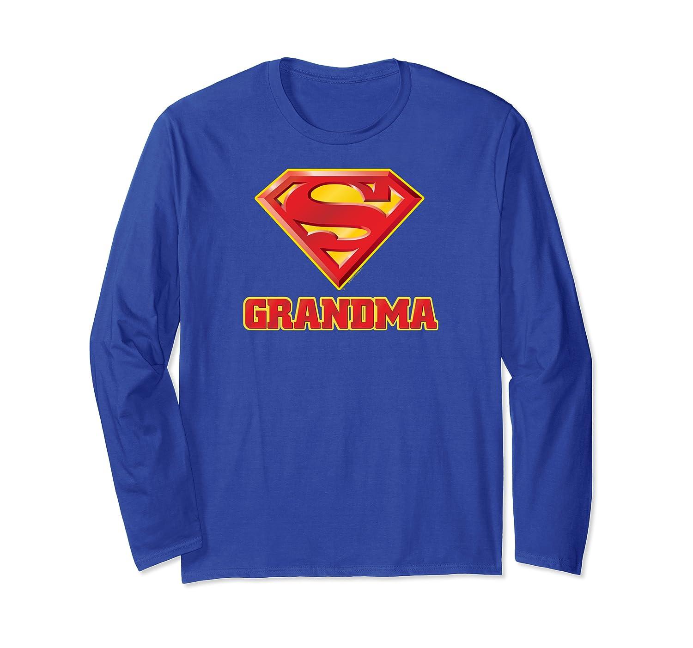 Superman Super Grandma Pullover Shirts Long Sleeve T-shirt