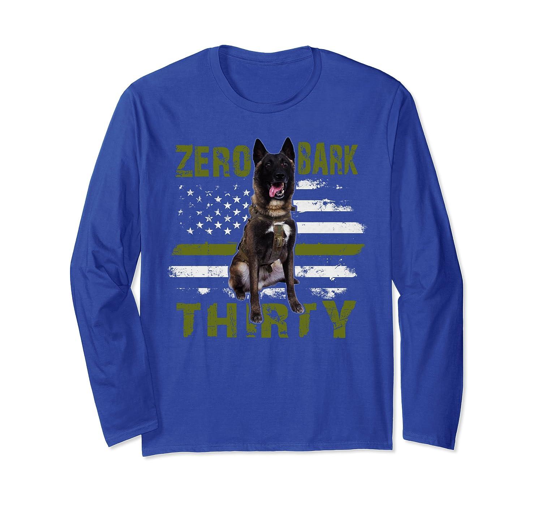 Zero Bark Thirty Tee, American K-9 Military Hero Dog Long Sleeve T-Shirt-ANZ