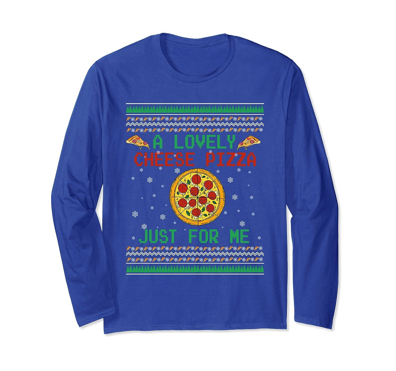 A Lovely Cheese Pizza X-Mas Long Sleeve T-Shirt-Awarplus