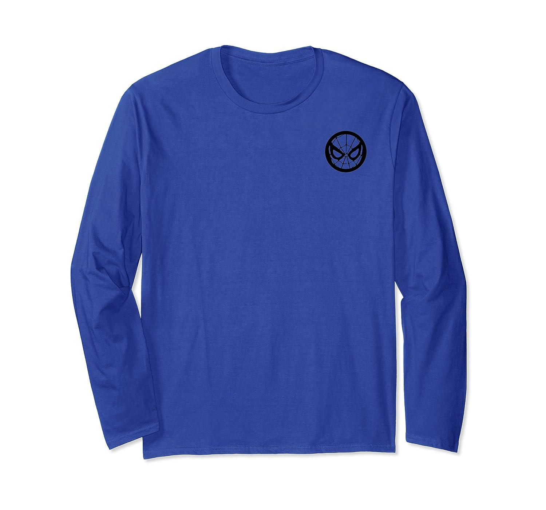 Spider Man Pocket Mask Symbol Graphic Shirts Long Sleeve T-shirt