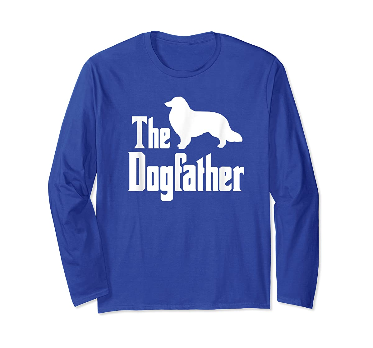 The Dogfather - funny Rough Collie T-Shirt, funny dog gift-Long Sleeve-Royal